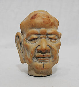 Nice Hand Carved Chinese Stone Head Figure Statue