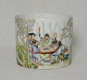 Chinese Famille Rose Porcelain Brush Washer With Studio Mark M2511