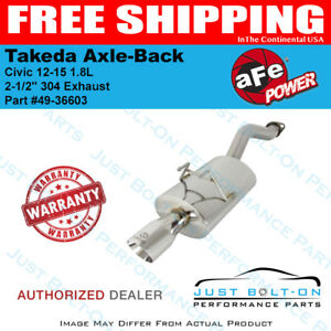 Afe Takeda 2 1 2 304 Axle back Exhaust For Civic 12 15 1 8l 49 36603