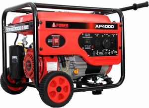 A ipower Ap4000 Gas Powered 4000 Watt 7hp Home Rv Portable Generator