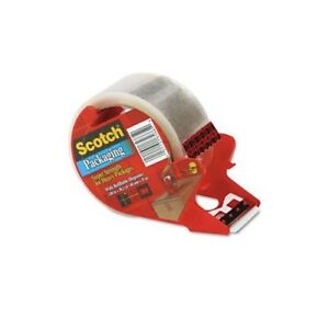3m 3850s rd 1 88 X 38 2 Clear Scotch Packaging Tape With Dispenser