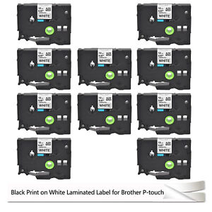 10x Tz 231 Tze 231 Compatible For Brother P touch Laminated Label Tape 12mm 1 2