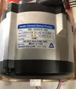 Iwaki Direct Drive Pump Rd 20v24 03 With Coolant Reservoir And Low Level Sensor