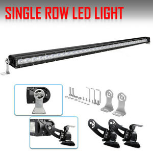 Slim 52 Inch 5200w Led Laser Car Light Bar Row Drl Combo 4 Cube Pods Suv 50