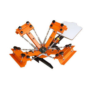 4 Color 1 Station Silk Screen Printing Machine 4 1 Press Diy T shirt Printing