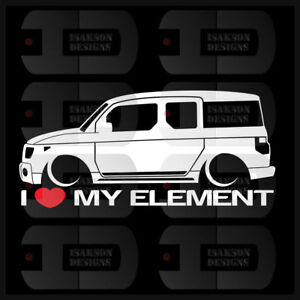 I Heart My Element Sticker Love Honda Slammed Jdm Japan Crossover Low Car Box