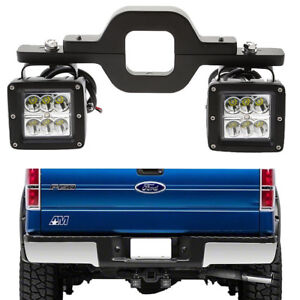 4fit Ford F150 250 350 Truck Suv Backup Reverse 3 Tow Hitch 18w Led Light Bar