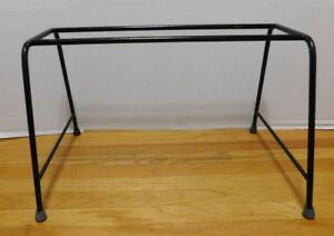 Vtg Wrought Iron Table Stool Bench Legs Mid Century Modern Paul Mccobb Style