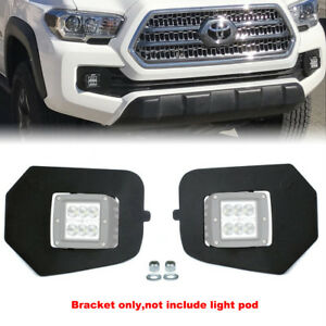 For 16 Up Toyota Tacoma Hidden Lower Bumper Led Fog Light Pod Upgrade Bracket