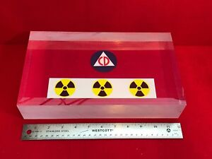 Bicron Bc412 Plastic Scintillator Block 12 X 7 X 2 25 For Radiation Detection
