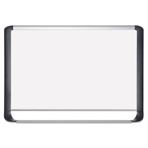 Lacquered Steel Magnetic Dry Erase Board 48 X 96 Silver black