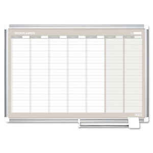Weekly Planner 36x24 Aluminum Frame