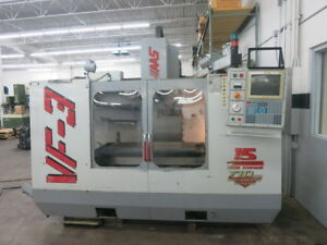 Haas Vf 3 Cnc Vertical Machining Center With Updated Vector Spindle Drive