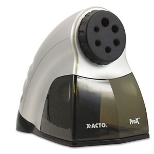 Prox Commercial Electric Pencil Sharpener Silver black
