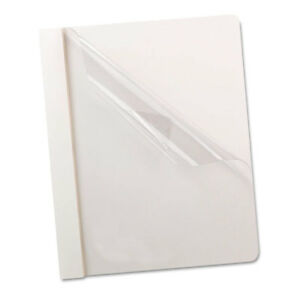 Premium Paper Clear Front Cover 3 Fasteners Letter White 25 box