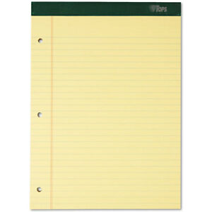 Double Docket Ruled Pads 8 1 2 X 11 3 4 Canary 100 Sheets 6 Pads pack