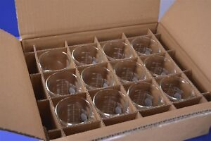 12 Kimax 1 Full Case Of Pyrex Graduated Low Form Griffin 250ml Beakers 14000250