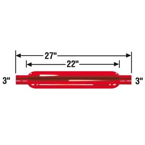 Cherry Bomb Glasspack Straight Universal Red Muffler 2 5 Inlet Outlet 87518cb