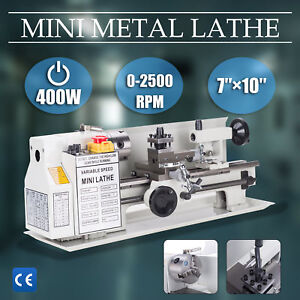 400w 7 X 10 Lathe Machine Diy Tool Mini Metal Lathe Tool Model Maker