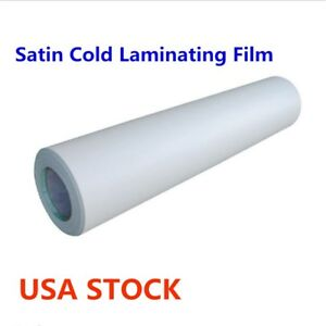 Usa 60 X 50 Yard Roll Satin Cold Laminating Film Paper Adhesive Glue