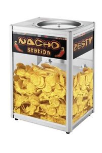 Commercial Popcorn Heat Display Cabinet Nacho Chip Warmer Countertop Peanuts