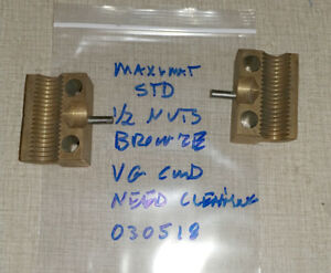 Emco Maximat Standard Lathe Bronze Half Nuts Imperial Inch 030518