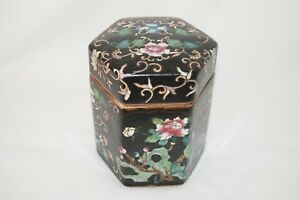 Wonderful Chinese Noir Porcelain Jar With Cover And Maker Mark