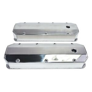Chevy Gmc Fabricated Aluminum Tall Valve Covers 1 4 Rail Bbc 396 427 454 502