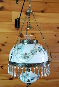 Vintage Oil Lamp Style Crystal Victorian Chandelier Light Fixture