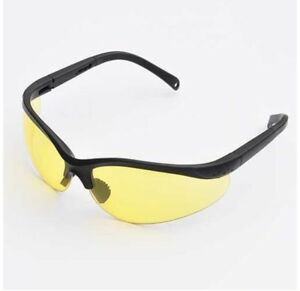 Uv Protecting Adjustable Safety Glasses Yellow Tint7821 Lot 6 6 Packs
