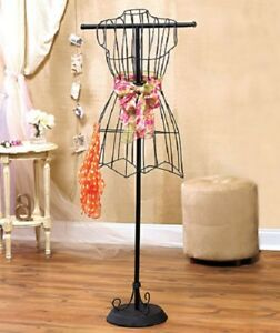 Vintage Style Freestanding Dress Form Wire Mannequin Boutique Functional Decor