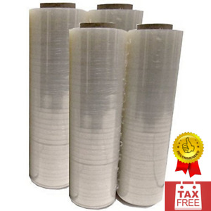 4 Plastics Shrink Hand Stretch Wrap Roll 18 X 1500 80 Gauge Pvc Moving Packing