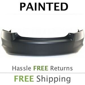 Fits 2008 2009 2010 2011 2012 Honda Accord Sedan Rear Bumper Painted 4 Cylinder
