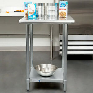 New 24 X 24 Stainless Steel Work Prep Table Adjustable Undershelf Restaurant