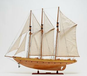 Atlantic Yacht 1905 Emperor S Cup 36 5 Sailboat Wood Model Ship Assembled