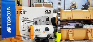 New Topcon Orion 2ls Digital Lcd Display Auto Laser Level Complete New In Box