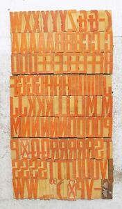 111 Piece Vintage Letterpress Wood Wooden Type Printing Blocks 50 M m bc 1854