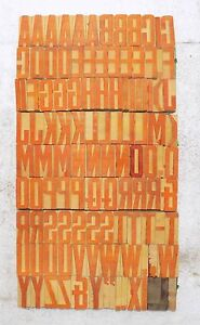 111 Piece Vintage Letterpress Wood Wooden Type Printing Blocks 50 M m bc 1852