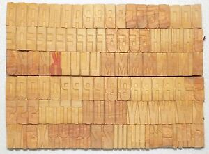 117 Piece Vintage Letterpress Wood Wooden Type Printing Blocks 33 M m bc 2006