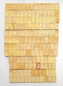 167 Piece Vintage Letterpress Wood Wooden Type Printing Blocks 32 M m Bc 1238