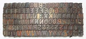 106 Piece Vintage Letterpress Wood Wooden Type Printing Blocks 16 M m bc 2046