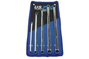 Us Pro Tools 5pc Aviation Double Ended Ring Extra Long Spanner Set 8 19mm 3223
