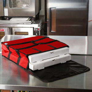 6 Pack Insulated Catering Pizza Food Delivery Carrier Hot Bag Box Red 18 16