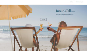 Travel Resorts Vacation Website Business For Sale