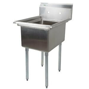 Lj Stainless Steel 1 Compartment Prep Sink I d 15 X 15 X 14 Deep