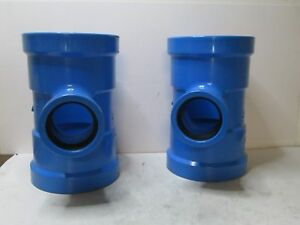 Qty 2 Ipex 8 X 8 X 4 Tee Pvc Fitting For Water Mains New Free Shipping