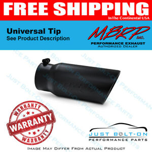 Mbrp Universal Tip 5 O D Angled Rolled End 4 Inlet 12 Length Black T5051blk