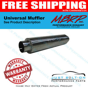 Mbrp Universal 3 Id Inlet outlet 26 Single Chambered Muffler Al Steel Gp122106