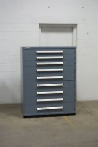 Used Vidmar 9 Drawer Cabinet Industrial Tool Storage 45 Wide 1230 Lista