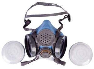Half Face Respirator By Parcil Distribution Double Air Filter Gas Mask Grade